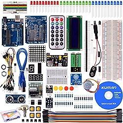 Kuman Proyecto super Starter Kit para Arduino Uno R3 MEGA2560 mega328 nano kits incluidos R3 junta K4