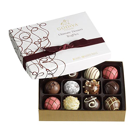Godiva Chocolatier Ultimate Dessert Truffles Gift Box, 12 Count