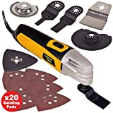 61M7W98wO1L. SL160  - BEST BUY #1 Wolf 260w Multi Function Oscillating Combat Tool With 27 Piece Accessory Kit Includes Cutting Discs, Blades, Sander Sheets