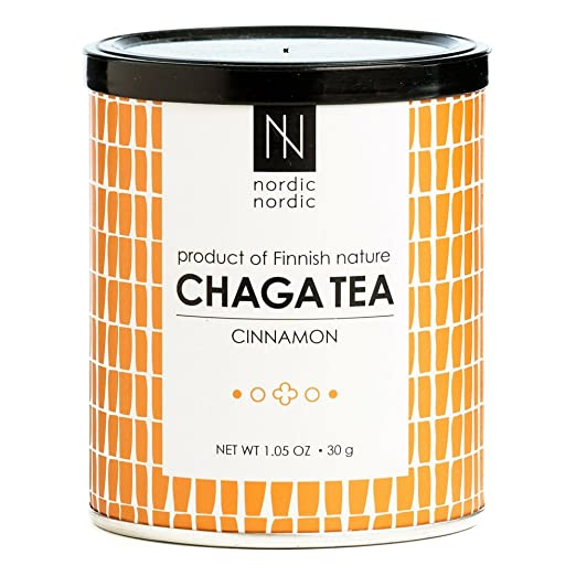 NordicNordic - Hand Picked Chaga Mushroom Tea, Product of Finland (Cinnamon)