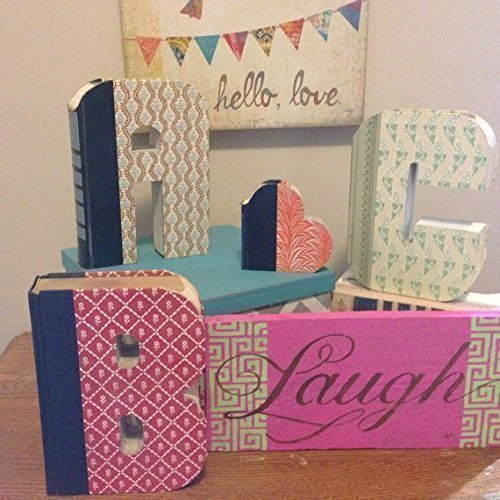 Custom UpCycled Vintage Readers Digest Book Letters - Anthropologie Inspired
