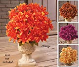 Floral Chrysanthemum Bushes - Set Of 3 Champagne