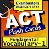 ACT Test Prep Essential Vocabulary Review Flashcards--ACT Study Guide Book 1 (Exambusters ACT Study Guide)
