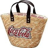 コカ・コーラ スパンコールワッペン付きカゴバッグ ロゴ