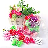 Berry 20pcs Cute Dog Hair Bows with Rubber Bands Nylon Pet Grooming Accessoriess Mixed Color