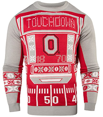 NCAA College Team Logo Mens Ugly Light Up Crew Neck Sweater