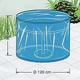 Winterfeste Schutzhülle Gartentisch rund 120cm Flex-Cover Gartentisch Abdeckung rund