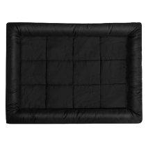 casa pura® Hundebett Sweety | bequeme und mobile Schlafunterlage | Größe ca. 100 x 75 cm | in 3 Farben erhältlich (Black)