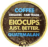 EKOCUPS Organic Artisan Coffee, Guatemalan , Medium roast  for Keurig K-cup single serve Brewers, 40 count