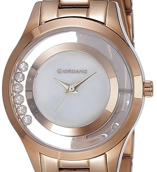 Giordano Analog White Dial Women's Watch - 60093-44