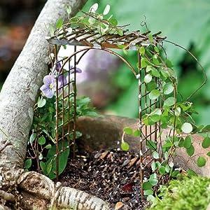 fairy garden trellises Amazon.com : Miniature Fairy Garden Trellis Arbor : Patio
