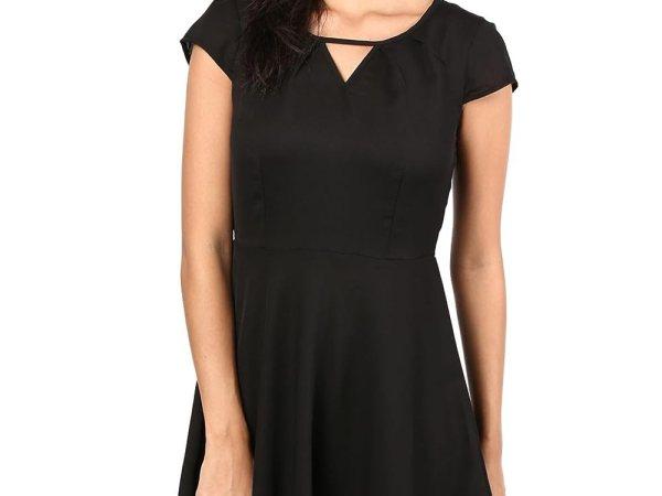 The Vanca Women's Black skater dress