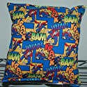 "Superman Pillow DC Comics Pillow Super-Man Pillow HANDMADE in USA BAM Pillow is approximately 10"" X 11"