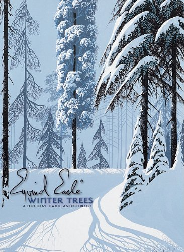 Eyvind Earle: Winter Trees Boxed Holiday Assortment