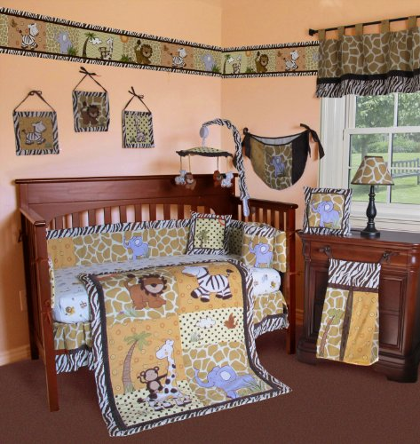Giraffe Print Crib Bedding