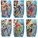 "DC Super Hero Girls Set of 6 (6"" Dolls) Wonder Woman, Poison Ivy, Supergirl, Batgirl, Harley Quinn, Bumblebee"