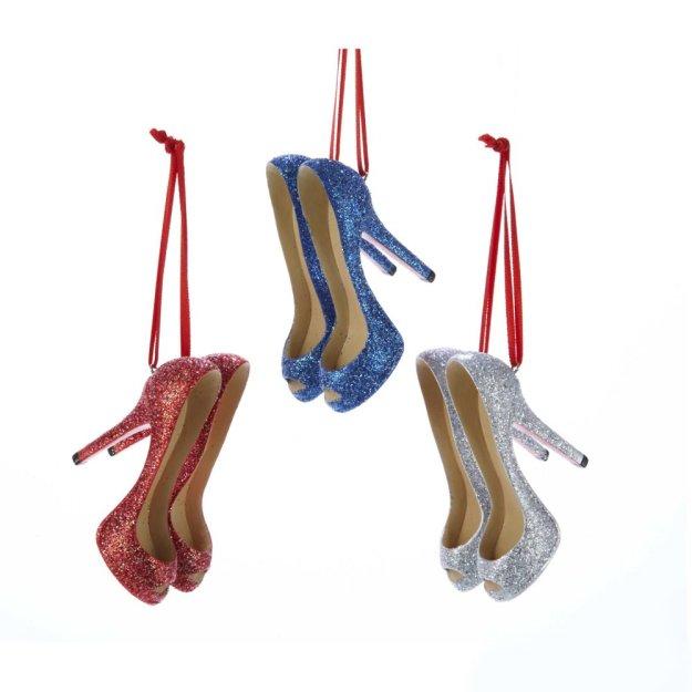 Set of 3 High Heel Shoe Ornaments
