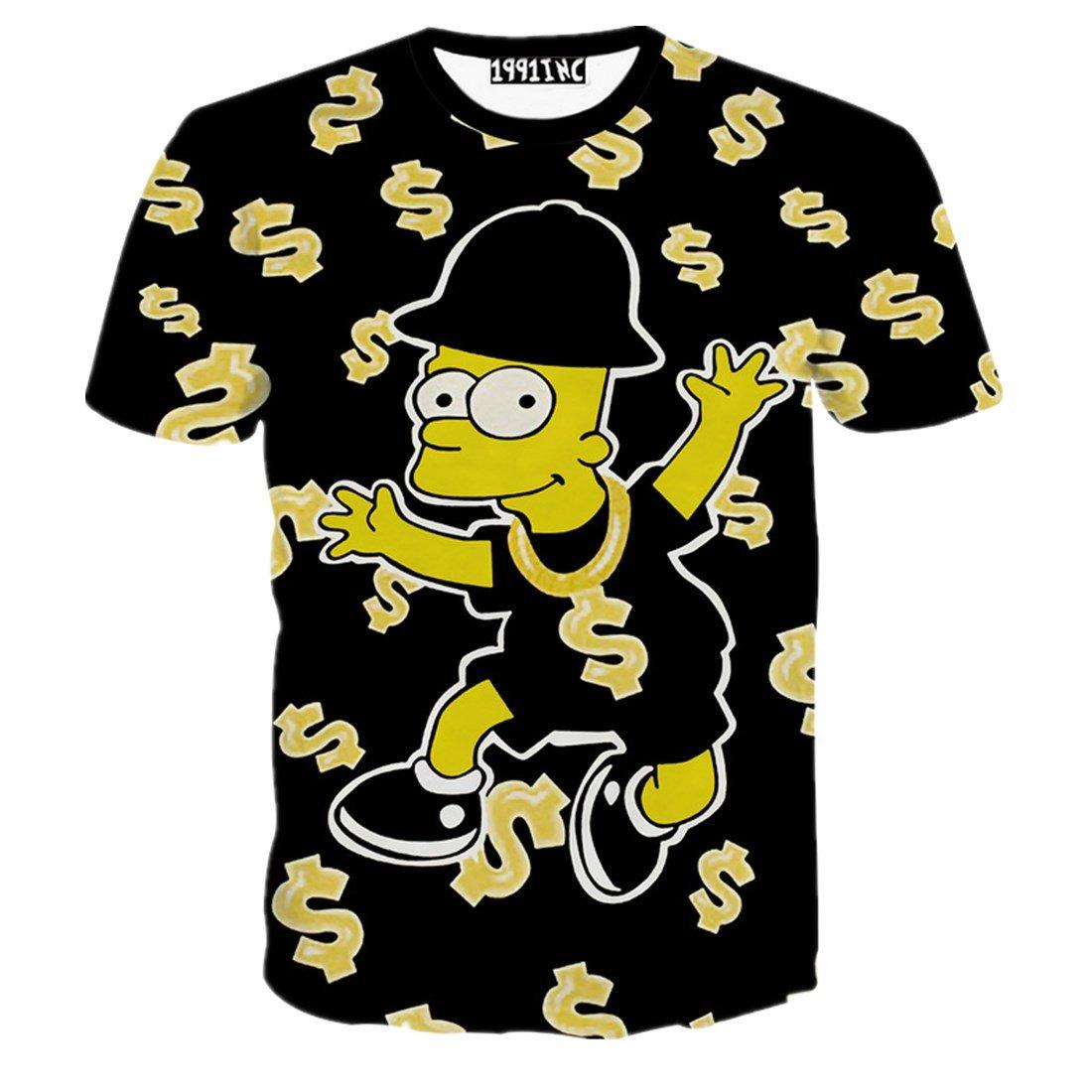 Men's Fashion USD $ 3D Print Hip Hop Style T-Shirts