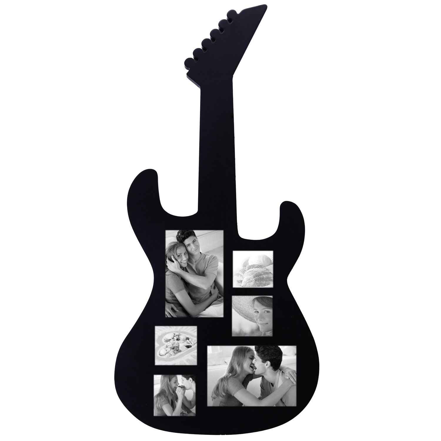 6 Openings Guitar Picture Collage Fame