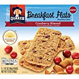 Quaker Breakfast Flats, Cranberry Almond, Breakfast Bars (Pack of 8)