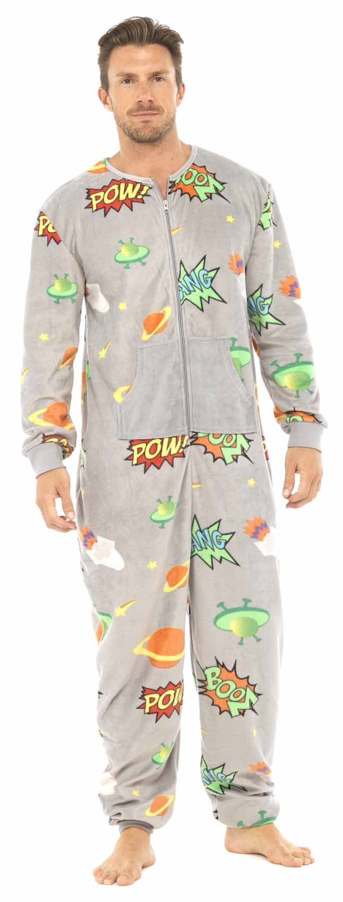 Men's Planet Design All in One Pyjamas Onesie