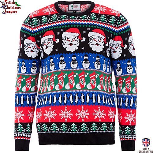 Christmas Sparkle - Mens Christmas Sweater by British Christmas Jumpers (Large)