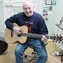 Michel Mallory - recent pic of Michel Mallory with guitar at home sudio