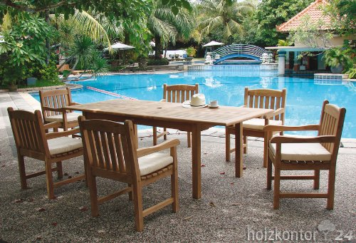 Solide 2 Gartenmöbel-Set aus Teakholz
