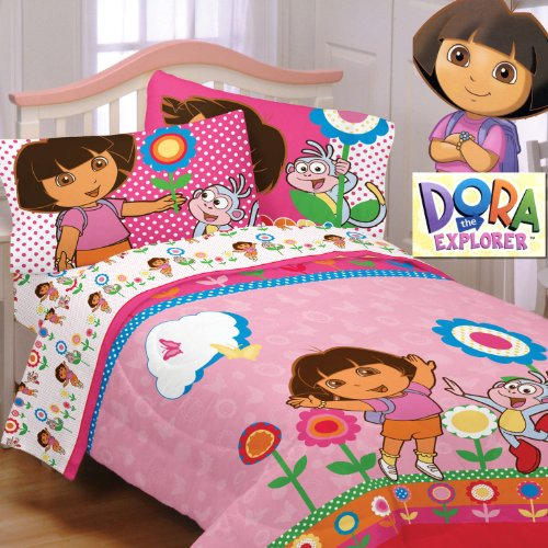 Cheap Dora The Explorer Cheerful Bloom Twin Comforter