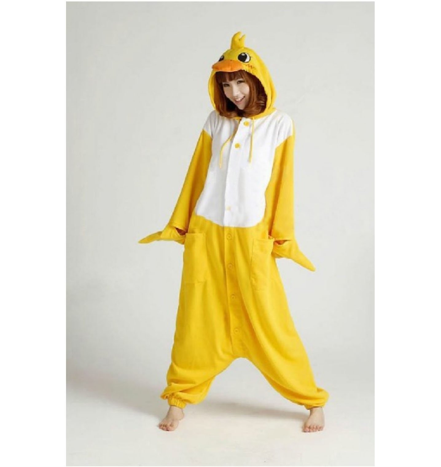 Anime Fleece Pajamas Duck Cosplay Costume Adult Hoodies Party Dress