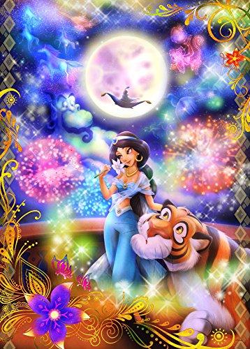 1000ピース 光るジグソー ファンタスティカルアート アラジン 恋の魔法にのって(ジャスミン) (51x73.5cm)
