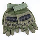 eBuy Men's Special Ops Full Finger Tactical Gloves, Military Combat Army Shooting Gloves, Cycling / Motorcycle Warm Gloves - Army Green, M