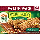 Nature Valley Crunchy Granola Bars, Oats and Honey, 24 Bars in 12 - 1.5 Ounce 2 Bar Pouches (Pack of 6)