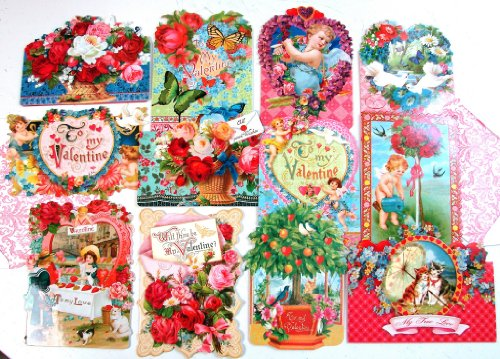 24 Valentine Card Assortment By Punch Studio Victorian