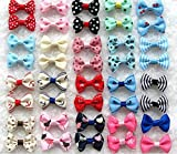 Dogs Kingdom Variety Patterns Pet Dog Cat Head Flower Hairpin Pet Bow Hairpin Random-10Pcs One Size