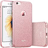 Custodia iPhone 6 Silicone,Case Cover per iPhone 6s in Silicone,ESR iPhone 6 Glitter Bling Case Cover iPhone 6 / 6S 4.7 inch (Rose Gold)