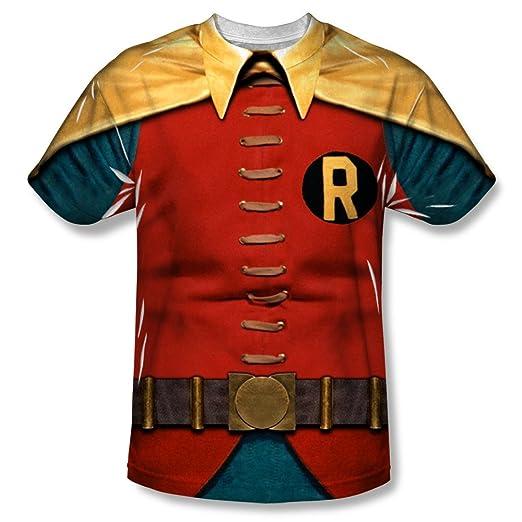 Robin Costume Adult Sublimation T-Shirt (Adult Medium)