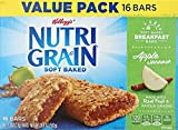 Kellogg's Nutri-Grain Cereal Bars, Apple Cinnamon, 16 Count