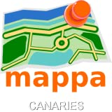 Canaries / Canary Islands, Spain, Offline mappa Map - Kanaren Online mappa Karte