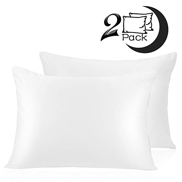 adubor silk satin pillowcase 2 pack silky pillow cases hair skin hypoallergenic sheets bedding