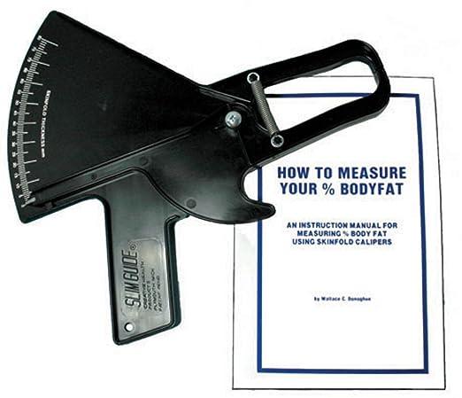 Slim Guide Skin Fold Caliper in Black with Booklet