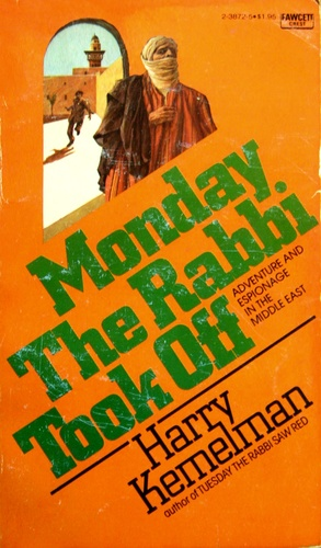 book cover for Monday the Rabbie Took Off