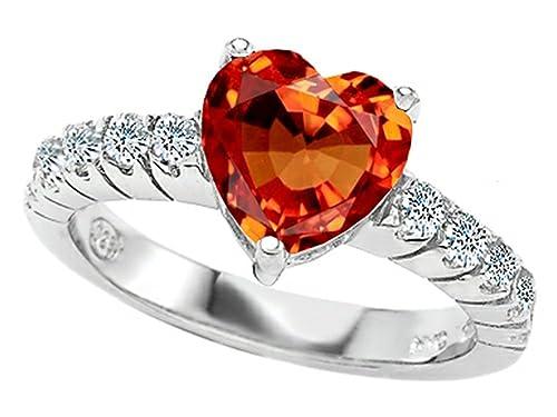 New Fashion Wedding Ring Orange Topaz Wedding Rings
