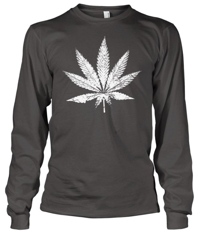 Cybertela Marijuana Leaf Men's Long Sleeve T-shirt