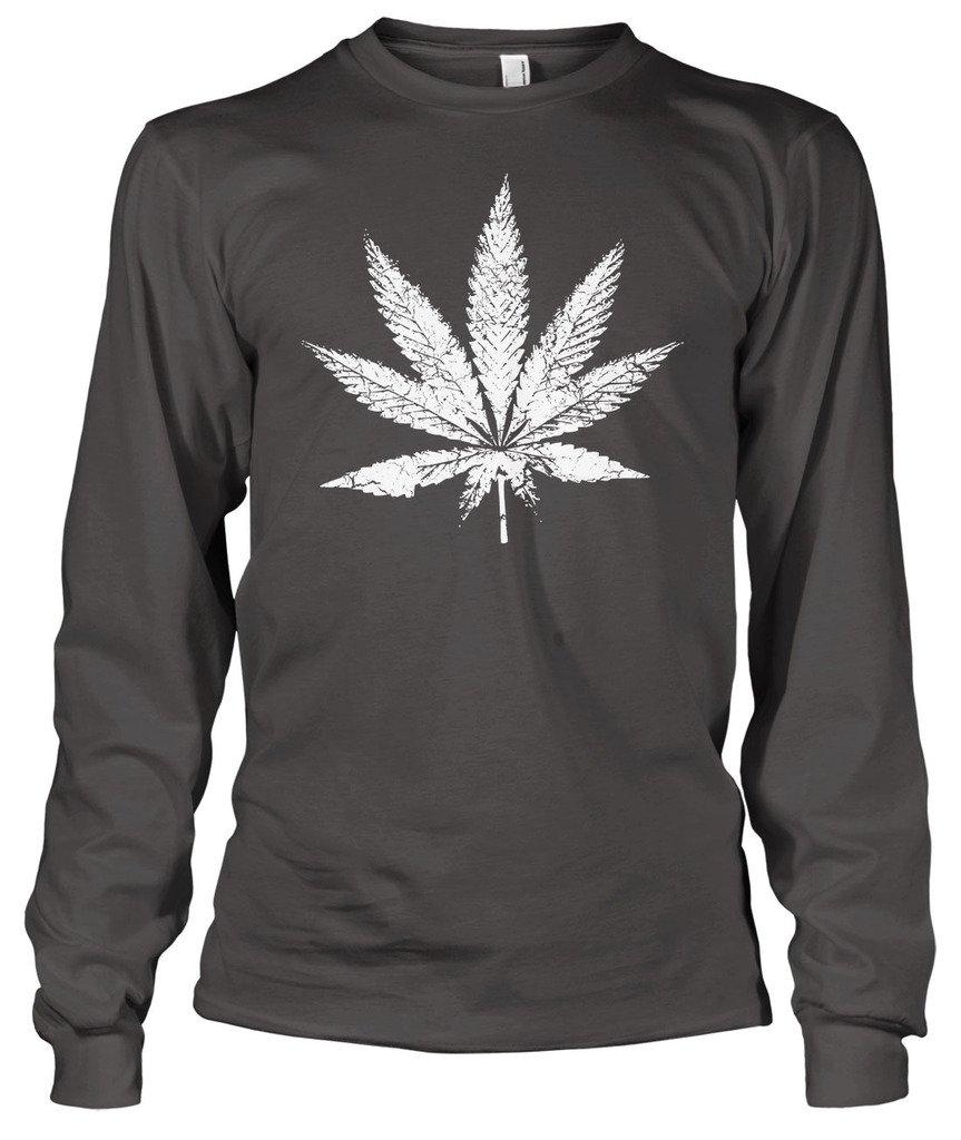 Cybertela Marijuana Leaf Men's Long Sleeve T-shirt