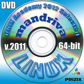 Mandrivaの2011のLinuxのDVDの64ビットフルインストールには、無料のUNIXアカデミー評価試験、