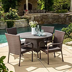 outdoor patio dining sets clearance Amazon.com : 5 Piece Outdoor Patio Dining Set - Weather