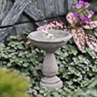 Miniature Fairy Garden Birdbath Cement