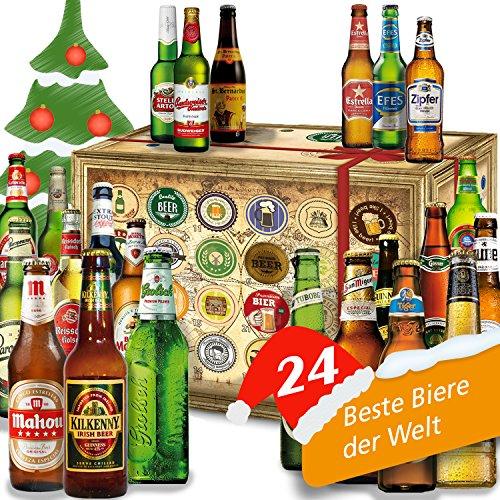 Bier Adventskalender Welt mit Tiger Beer + Stella Artois + Singha + Efes + San Miguel + Lapin Kulta + Moretti + mehr ... Ein tolles Geschenk für Männer. Bierset + Geschenk, Biersorten WELTWEIT. Adventskalender 2016 - mit 24 Biersorten in FLASCHEN Bieradventskalender Welt 2016 - Adventskalender für Männer, Adventskalender für Erwachsene, Bierkalender Adventskalender Alkohol, Weihnachtskalender mit Bier, Bier Adventskalender International, Weihnachtsgeschenke Bier für Männer