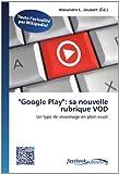 """""""Google Play"""":  sa nouvelle rubrique VOD"""